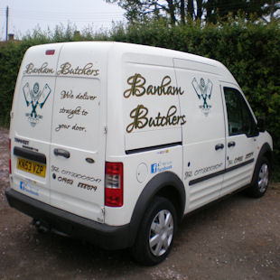 Banham Butchers local delivery van